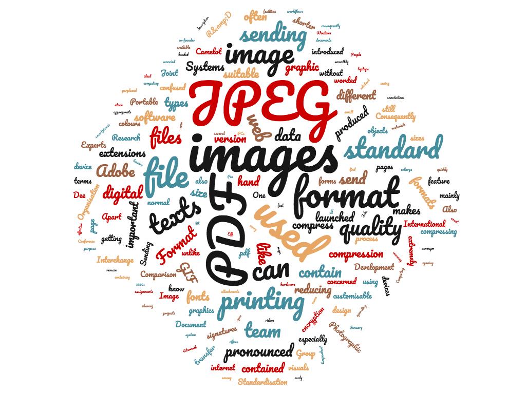 Diferencia entre jpeg y pdf