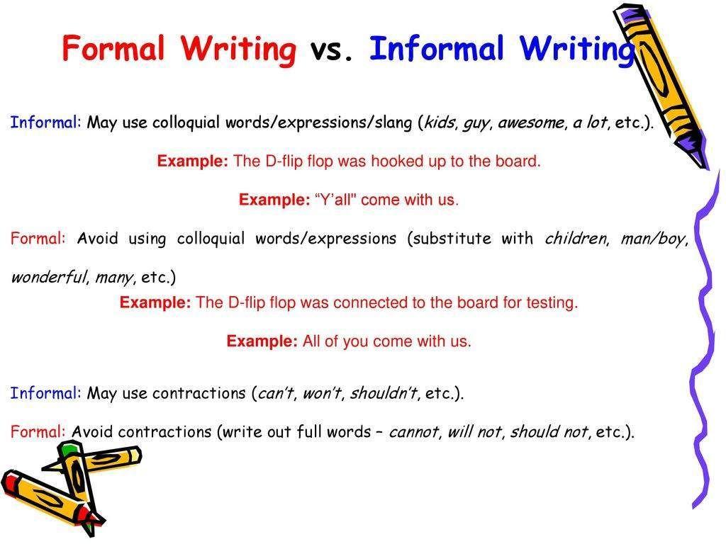 Escritura informal