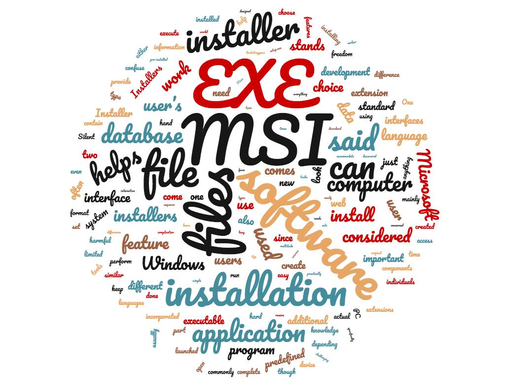 Diferencia entre MSI y EXE