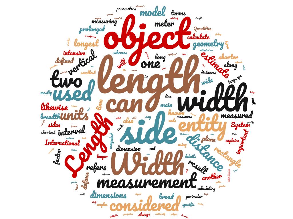 Diferencia entre largo y ancho