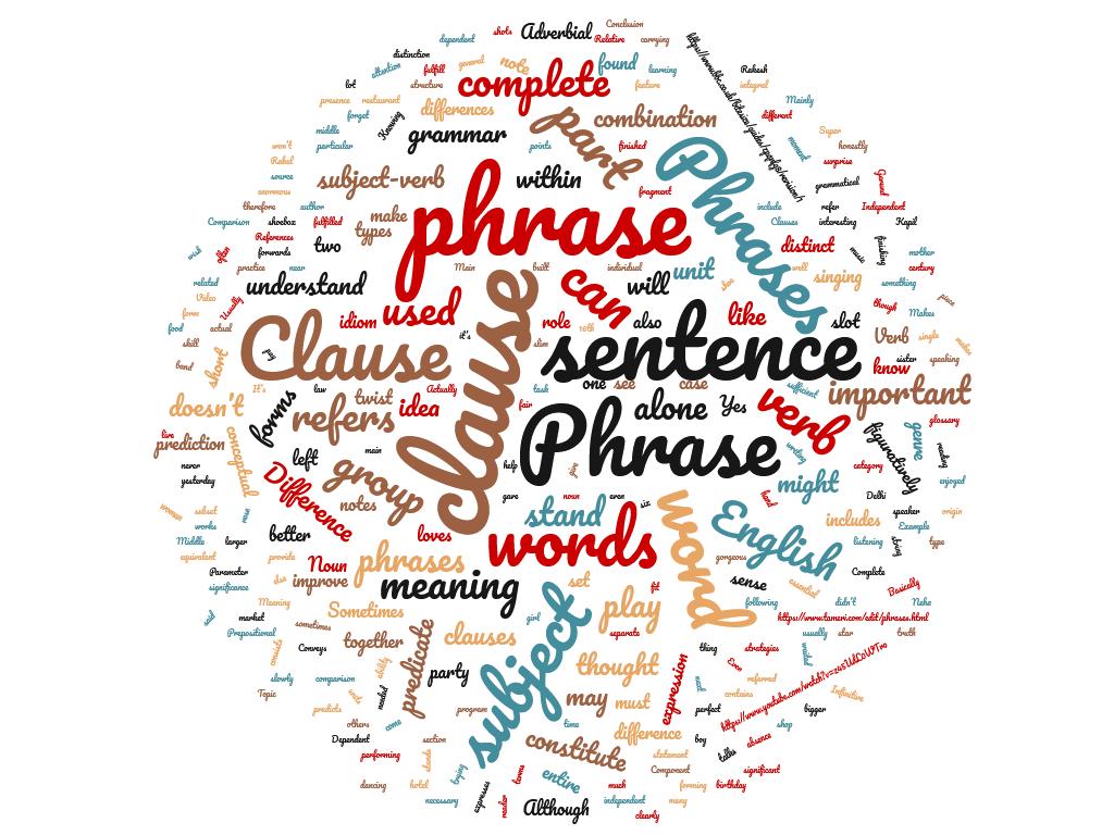 Diferencia entre frase y cláusula