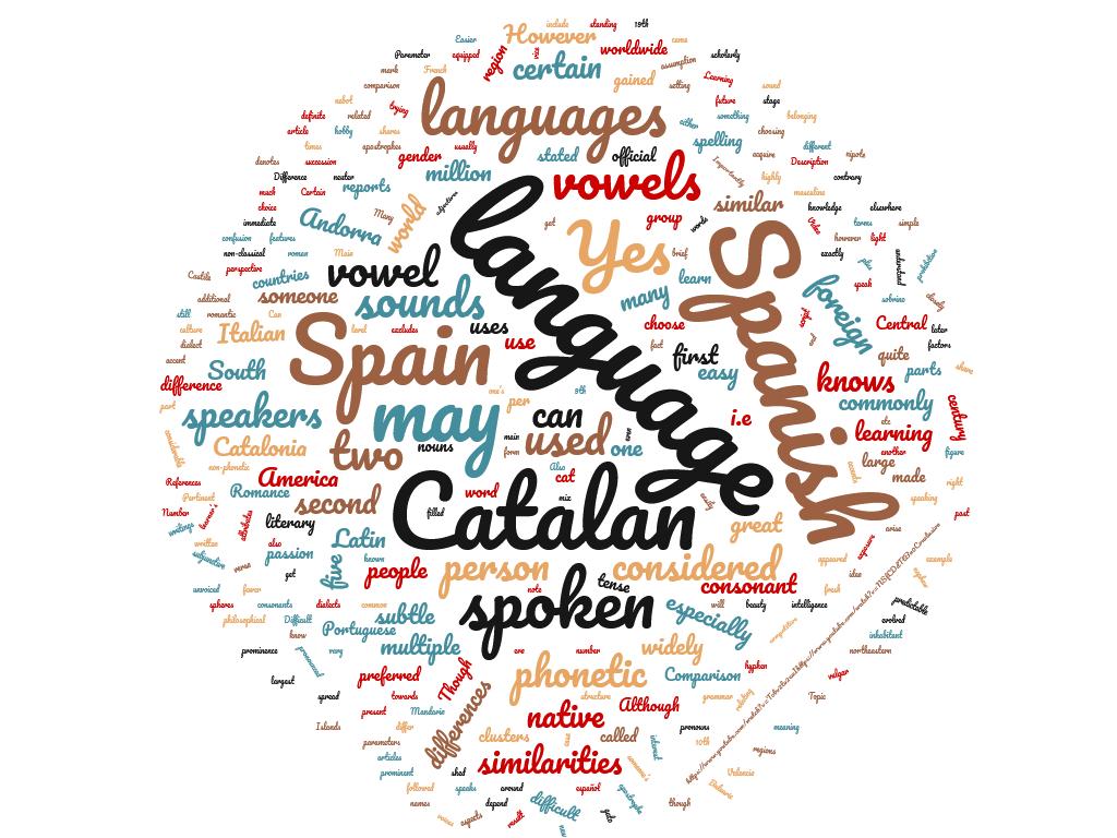 Diferencia entre catalán y español