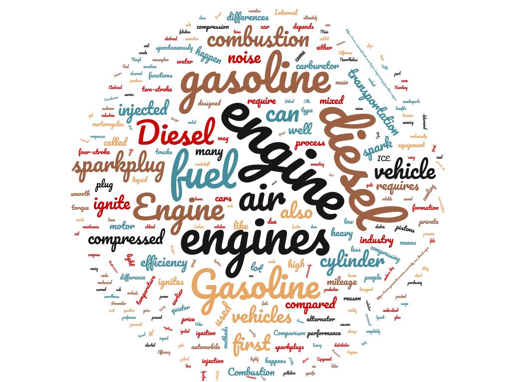 Diferencia entre motor diesel y motor de gasolina