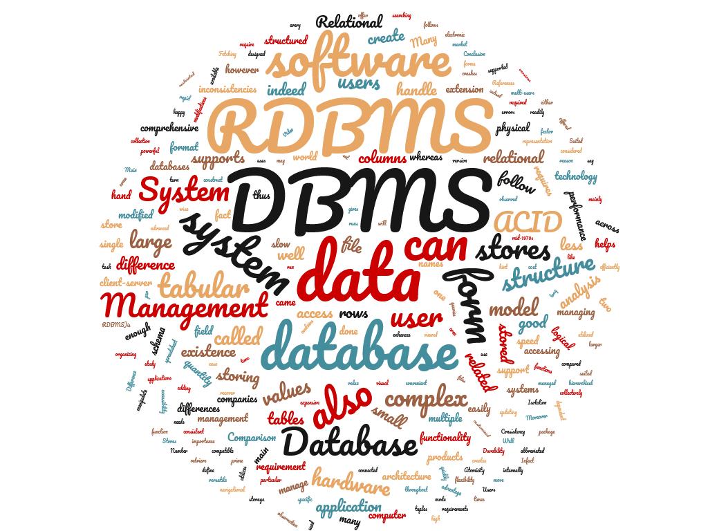 Diferencia entre DBMS y RDBMS