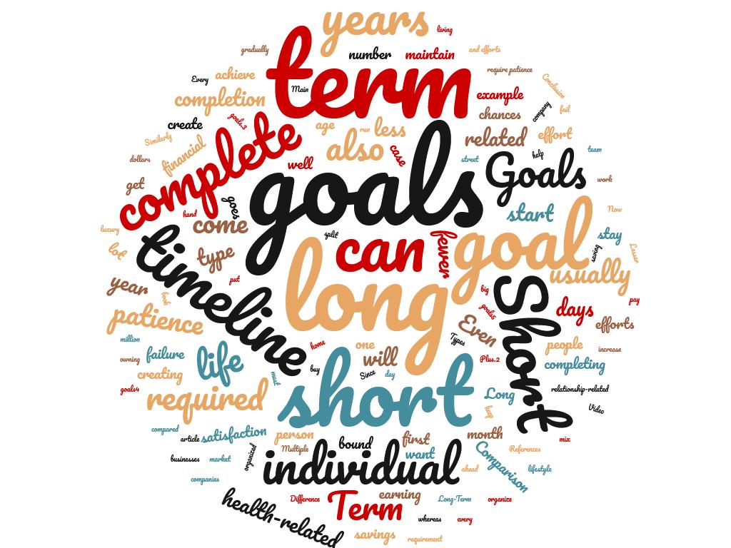 Diferencia entre objetivos a corto y largo plazo