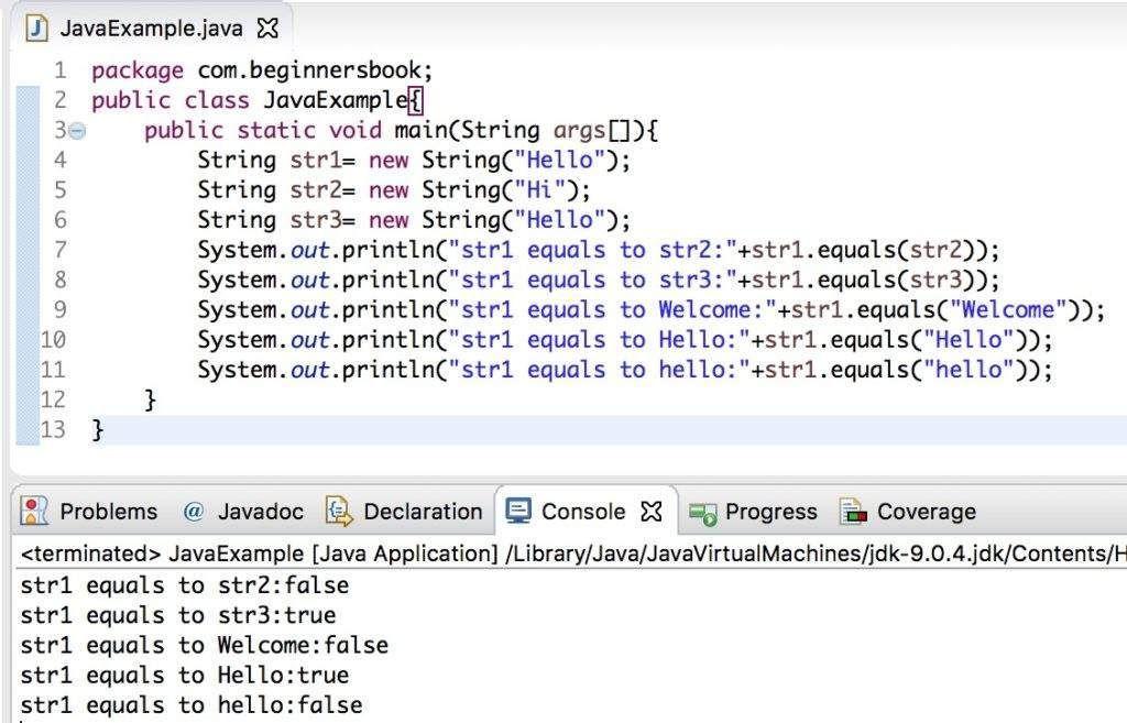 Código Java en Eclipse