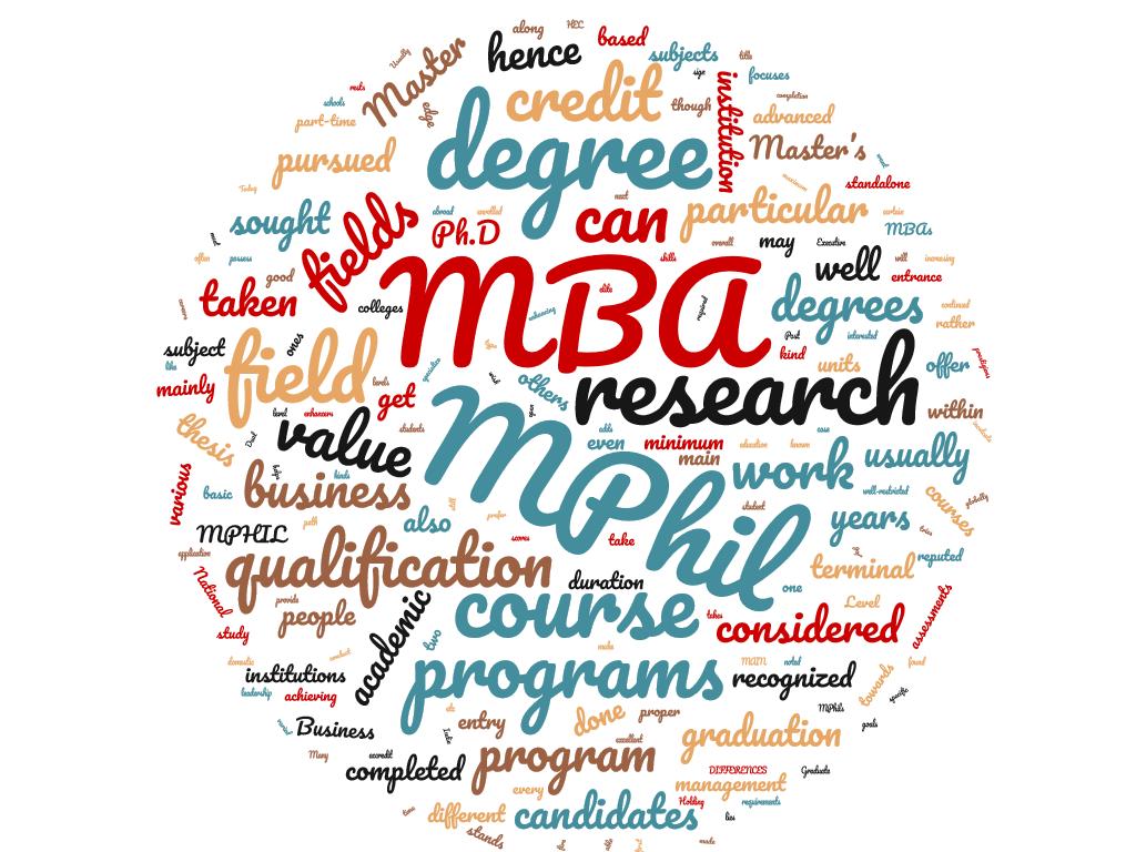 MPhil y MBA