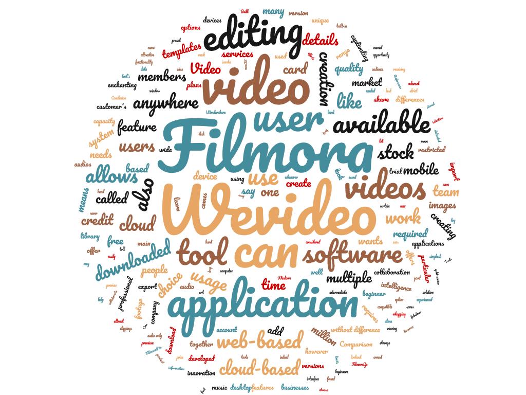 Diferencia entre Wevideo y Filmora
