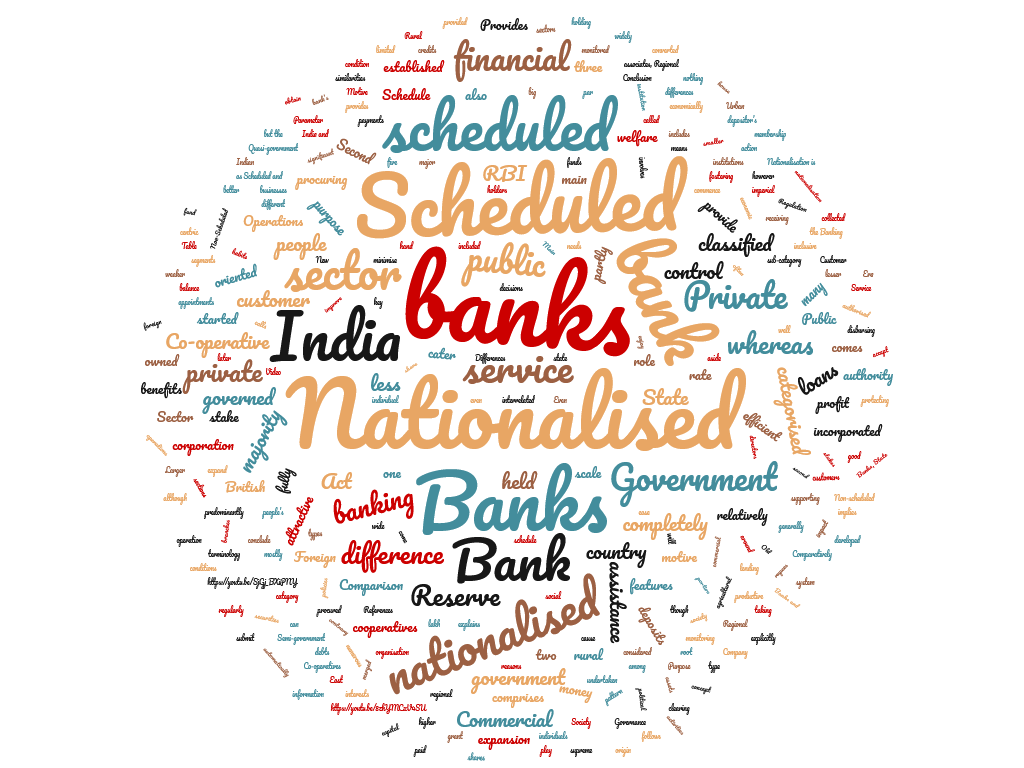 Diferencia entre banco programado y nacionalizado