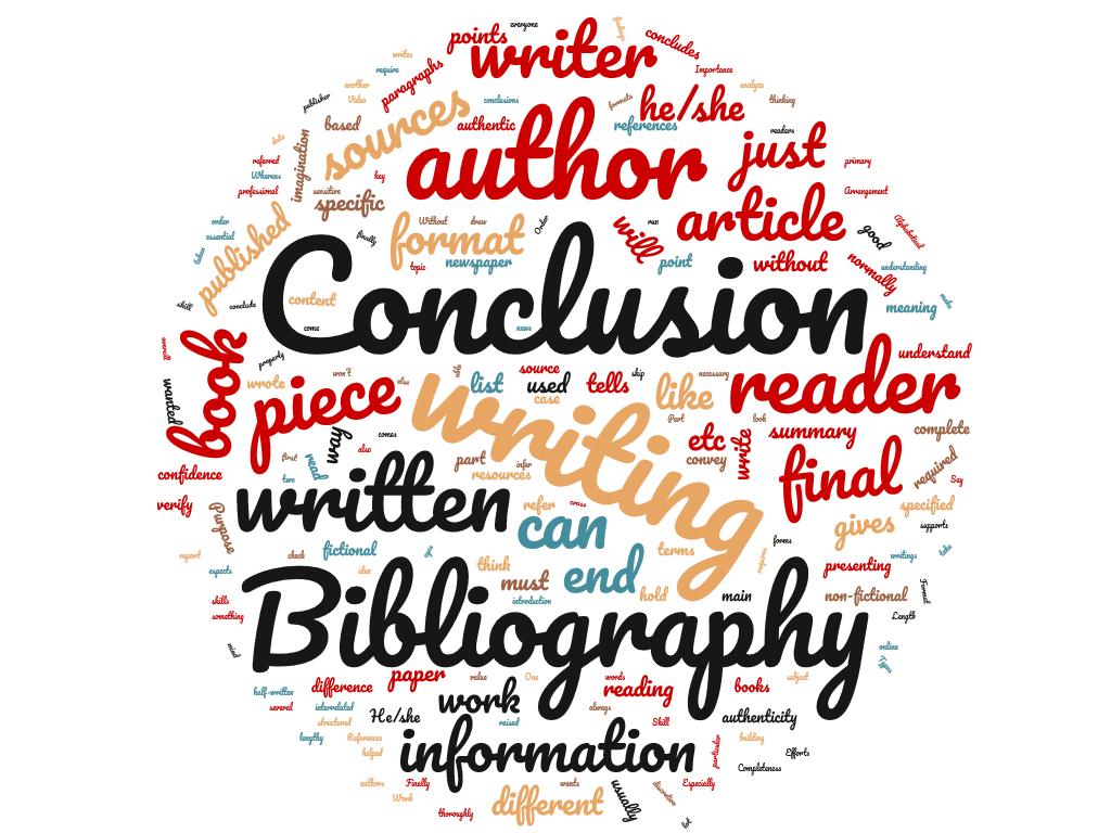 Nube de palabras para bibliografía y conclusión