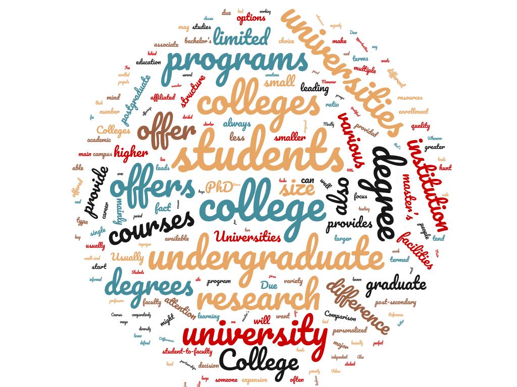 Diferencia entre colegio y universidad
