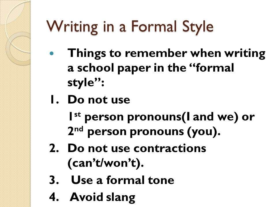 escritura formal