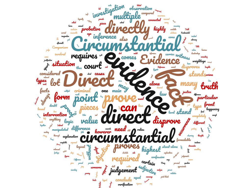 Diferencia entre evidencia directa y circunstancial