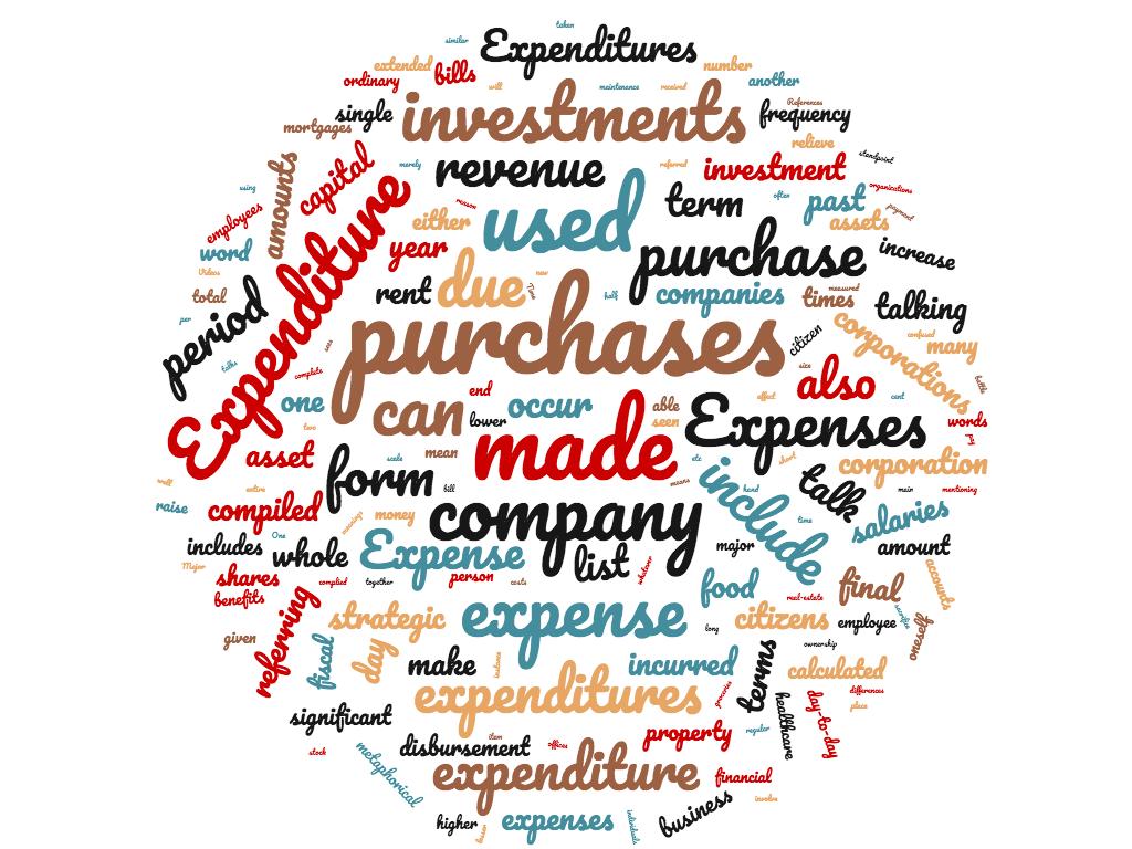 Diferencia entre gastos y