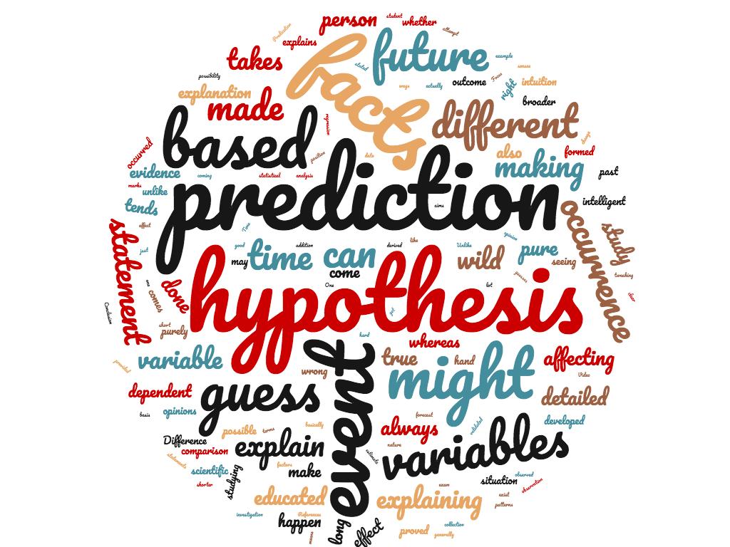 Diferencia entre hipótesis y predicción