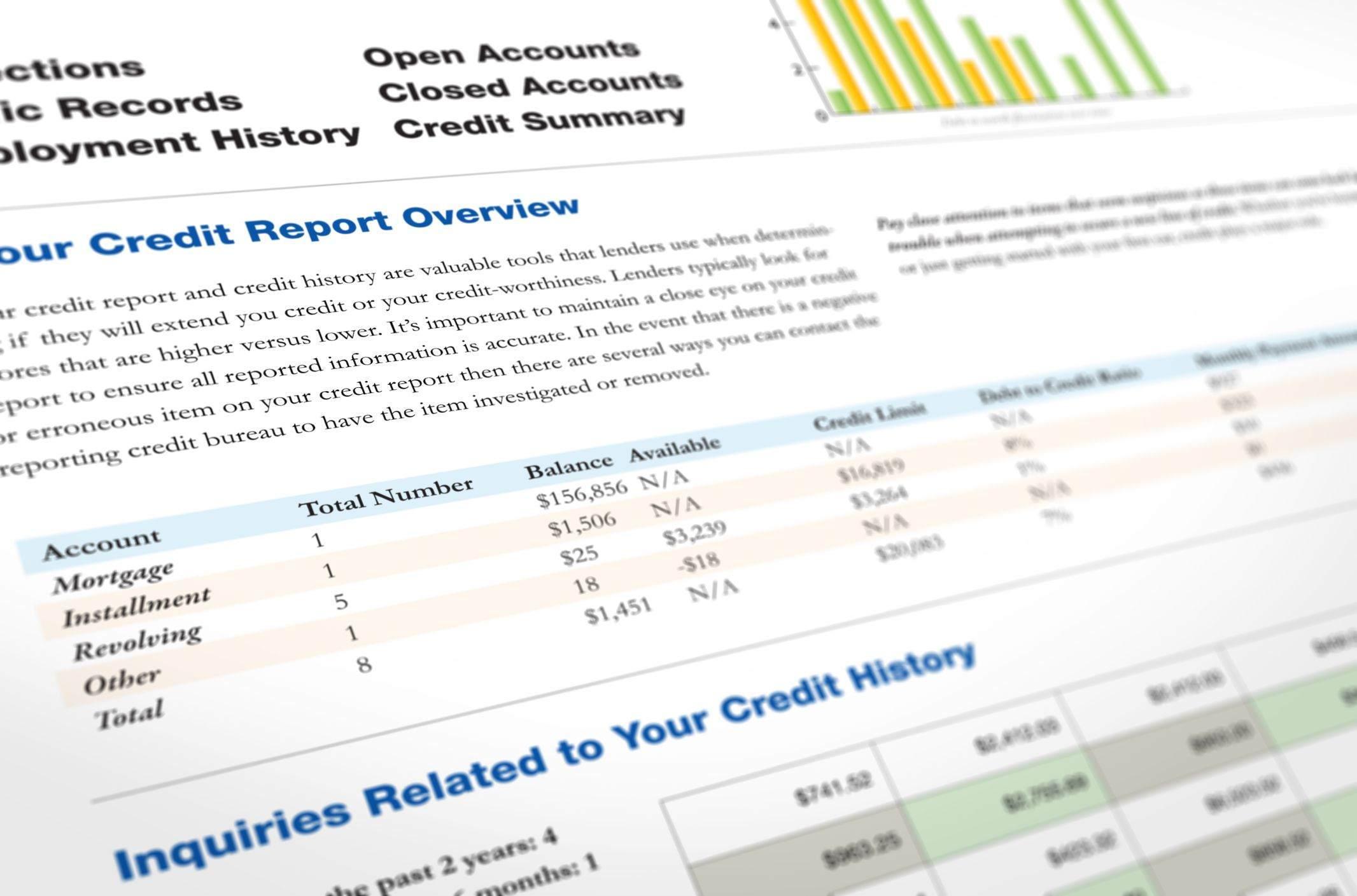 Diferencia entre informe crediticio y FICO (con tabla)