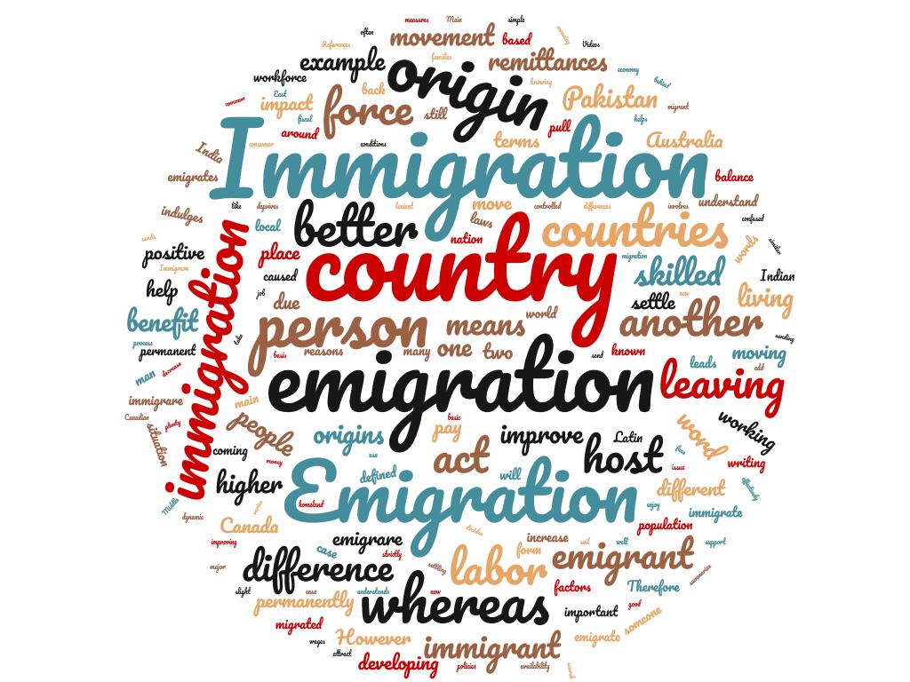 Diferencia entre inmigración y emigración