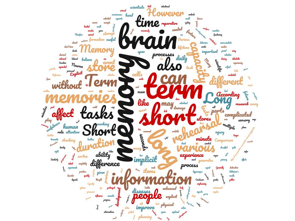 Diferencia entre memoria a corto y largo plazo