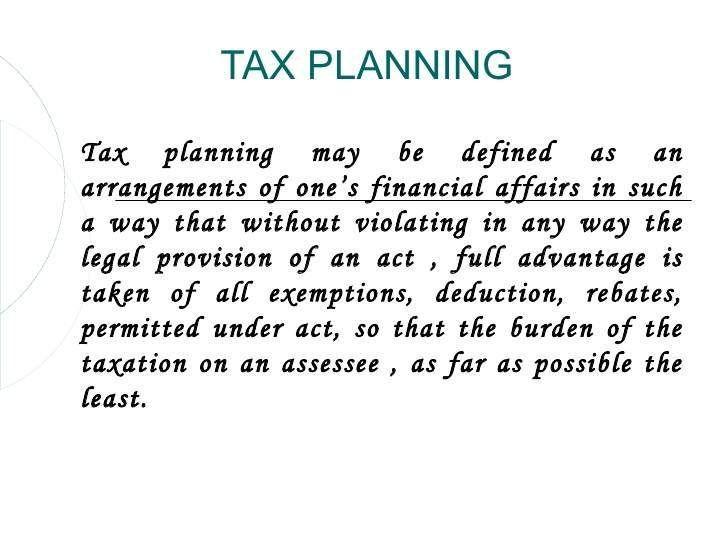 Planificación fiscal 1