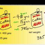 Diferencia entre peso bruto y peso neto (con tabla)